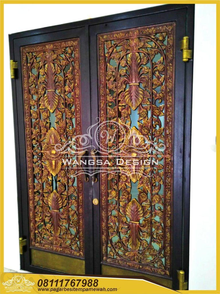 Pintu Besi Tempa Klasik Mewah Modern