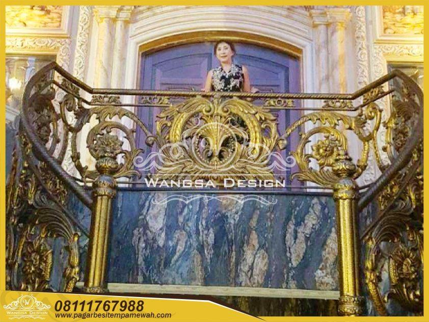 Railing Balkon Besi Tempa Mewah klasik