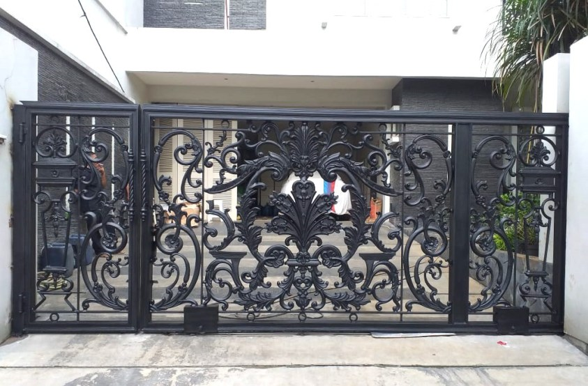Jual Pagar Besi Tempa Hitam Iron Fence Black Pintu Besi Tempa Hitam