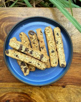 Almond and Dark Chocolate Biscotti Stick