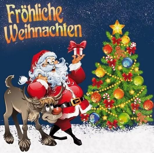 Открытка на немецком языке к рождеству
