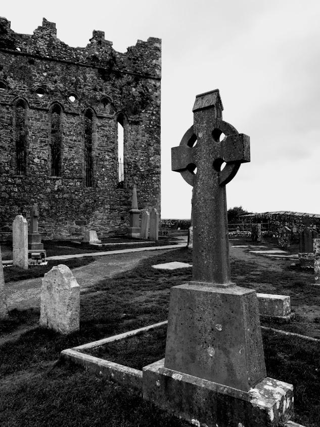 Irish Churchyard BandW