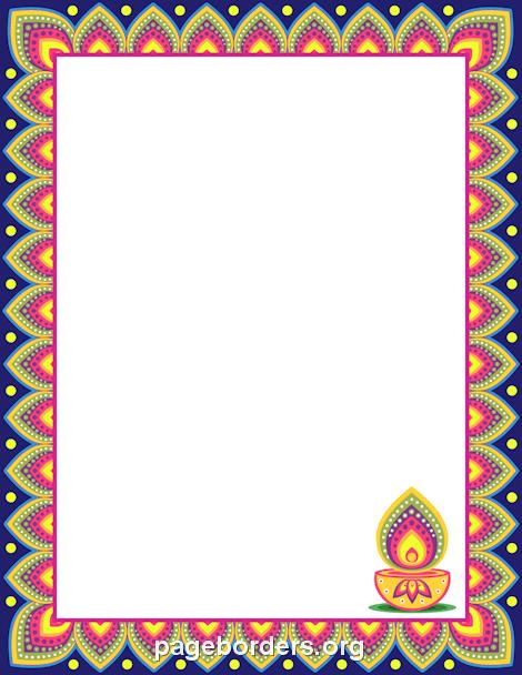 Diwali Border Clip Art Page Border And Vector Graphics