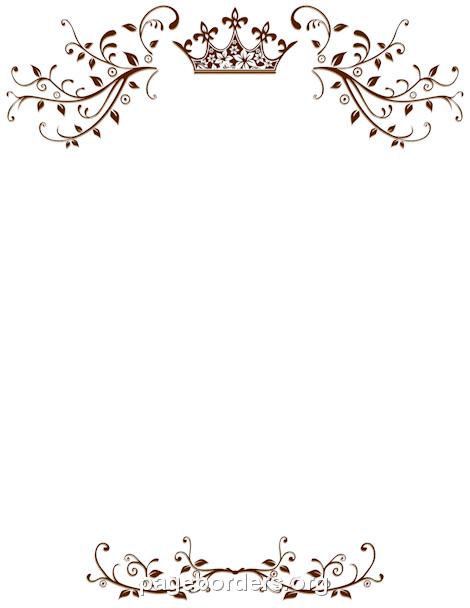 Printable Border 5 Christmas X 11 Border 8