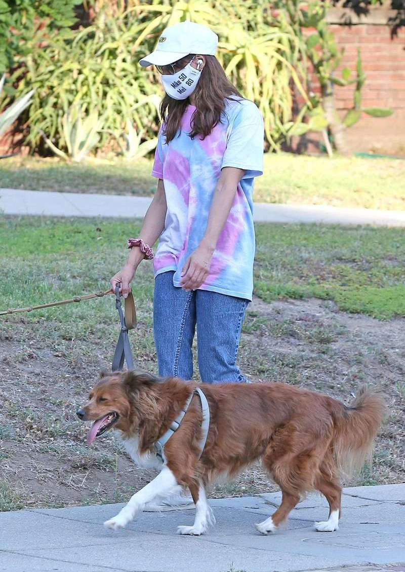 Aubrey Plaza Pictured Walking With Her Dogs in Los Angeles