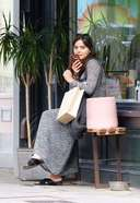 Jenna Coleman Spotted Shopping A Vase In London