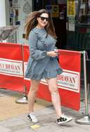 Kelly Brook Spotted At The Global Studios For Her Heart Radio Show