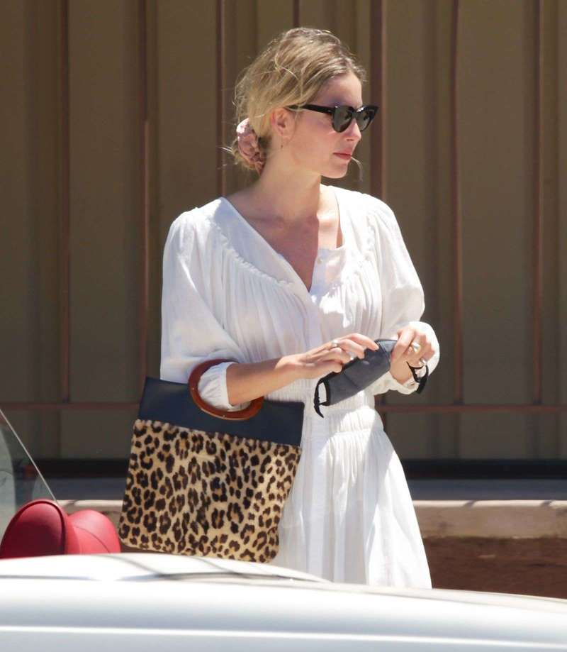 Chris Pine and Annabelle Wallis head out for coffee in Los Angeles
