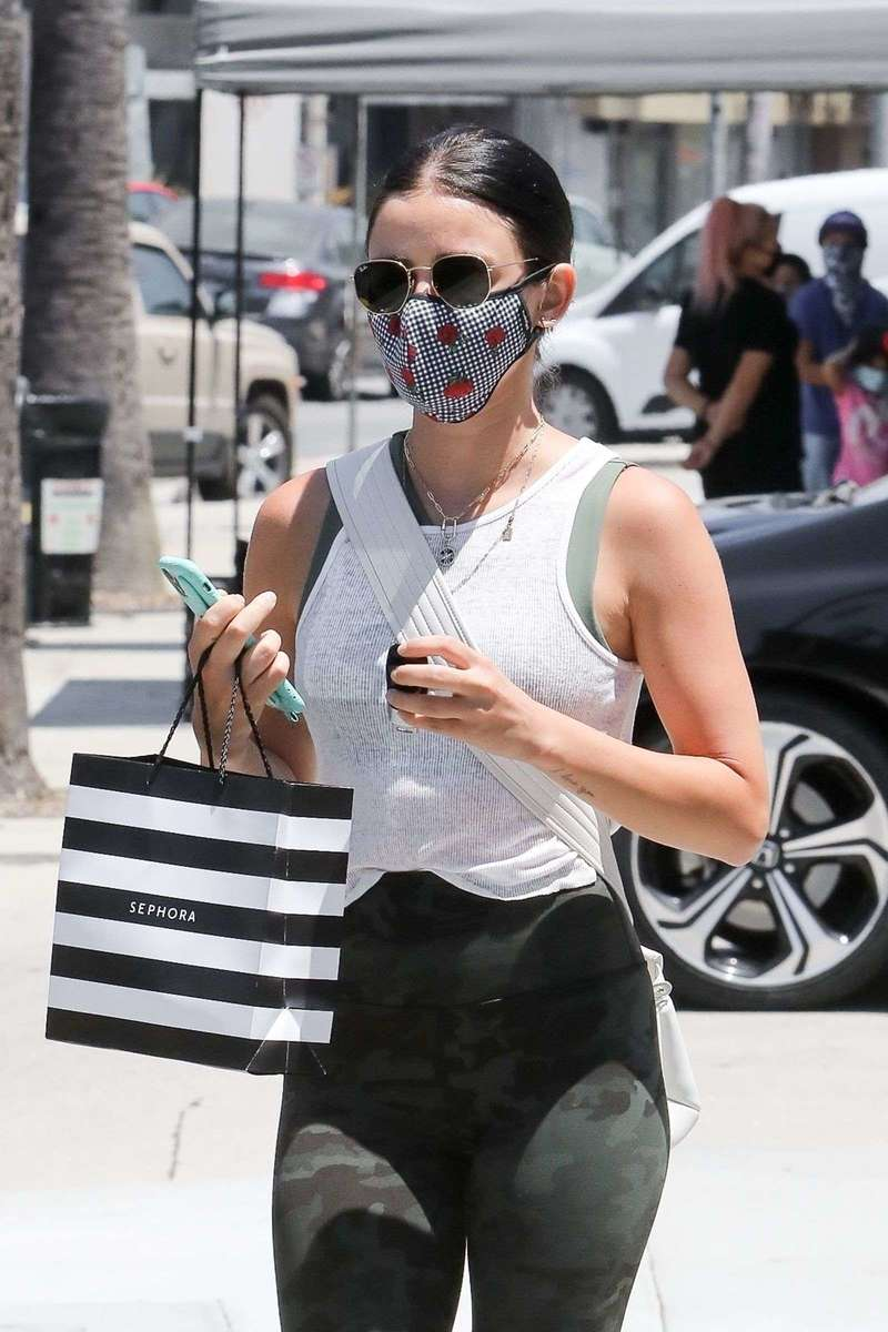 Lucy Hale seen out & about in Studio City California