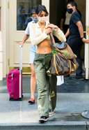 Bella Hadid is pictured stepping out in New York City