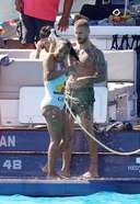 Christina Milian Hot Images On a boat during holidays in St Tropez