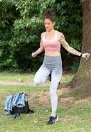 Katie Waissel Hot Workout Photos in North London