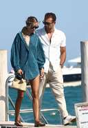 Frida Aasen and boyfriend Photos At Tommy Chiabra in St Tropez at Club 55
