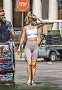 Hayley Roberts Latest Photos in skin tight workout pants as she picked up groceries in Calabasas