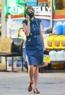 Maya Hawke is pictured picking up a six pack of Pacifico Clara beer in New York City