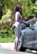 Nina Dobrev is pictured stepping out in Los Angeles