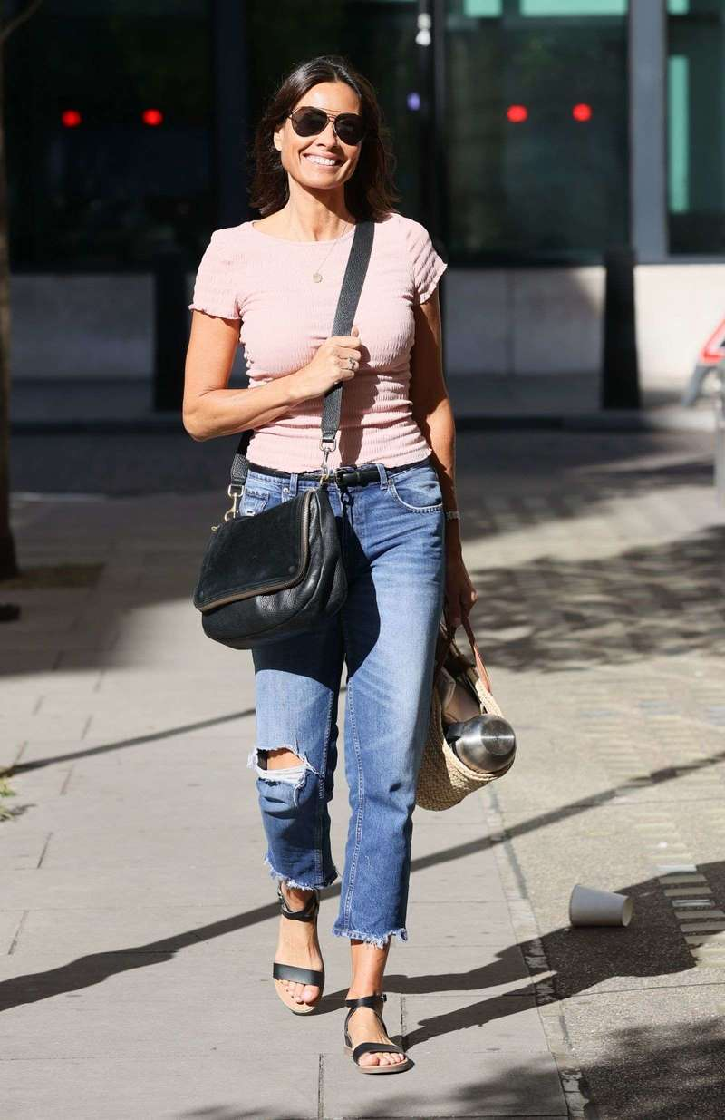 Melanie Sykes Latest Photos and Images at Wogan House in London