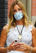 Kelly Bensimon is pictured stepping out in SoHo New York City