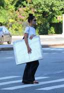 Katie Holmes Latest Photos in New York and buying artwork