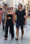 Sylvie Meis shopping Photos and Images in Saint Tropez France