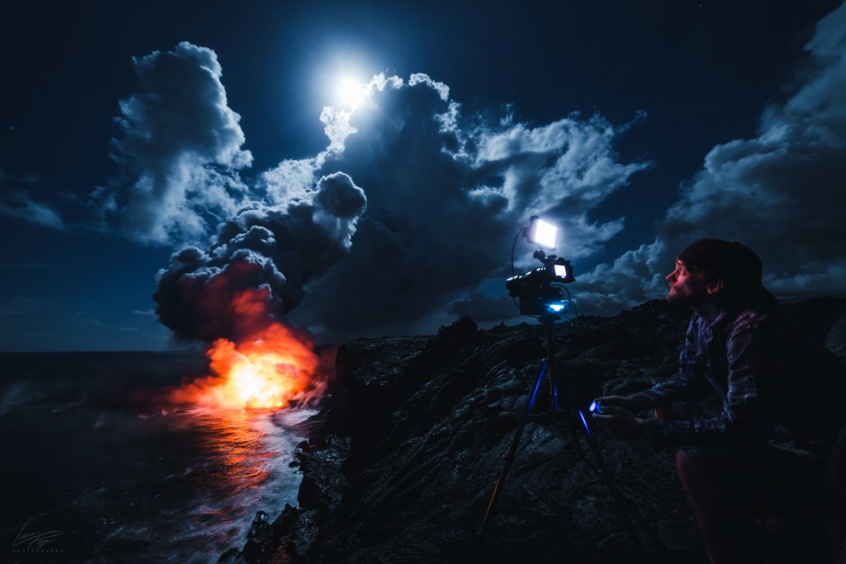 Volcanic Tides - BTS Lance shooting with eMotimo gear at the lava flows.