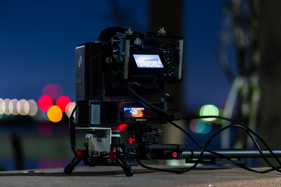 eMotimo spectrum ST4 on iFootage Shark slider rig, San Diego.