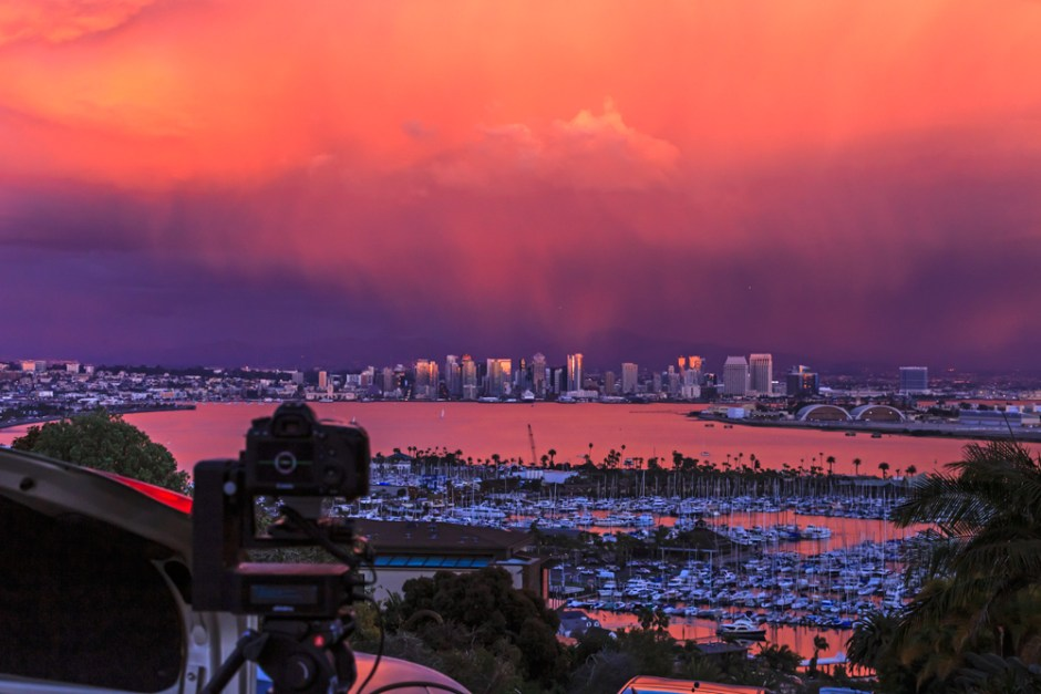Time-lapsing San Diego from Pt. Loma with eMotimo spectrum ST4. (Photo: Lance Page)