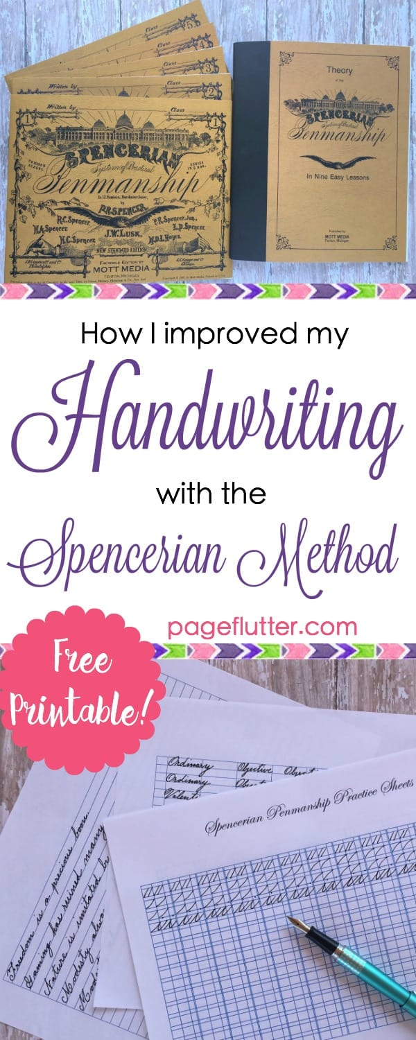 worksheet Spencerian Penmanship Worksheets how i improve my handwriting spencerian penmanship page flutter improved with pageflutter com cursive is