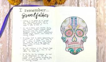 Sugar Skull Printable & Journal Remembrance Pages