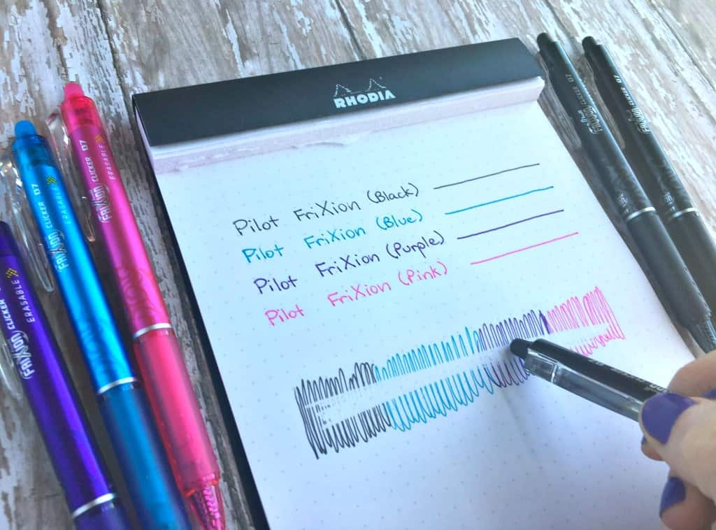 Are Pilot Frixion Erasable Pens Worth The Hype Page Flutter