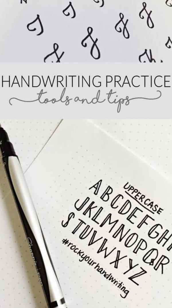 8 Handwriting Tutorials For Your Journal