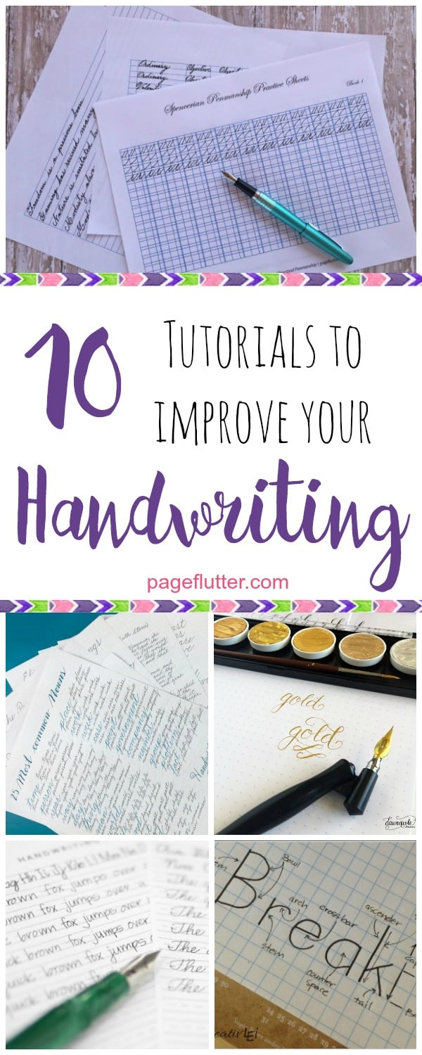 Improve your handwriting for journaling & snail mail with these fun tutorials!