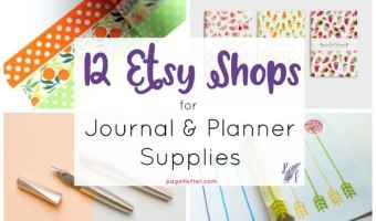 12 Irresistible Etsy Shops for Journal + Planner Supplies