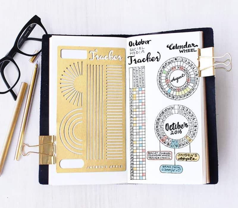 (Jayden's Apple) Planner printables and stickers are great shortcuts for Bullet Journaling