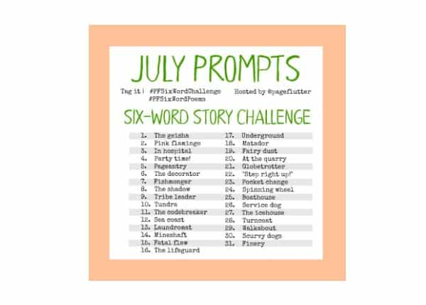 July Challenge Prompts: 6-Word Story Challenge (2017) #PFSixWordChallenge