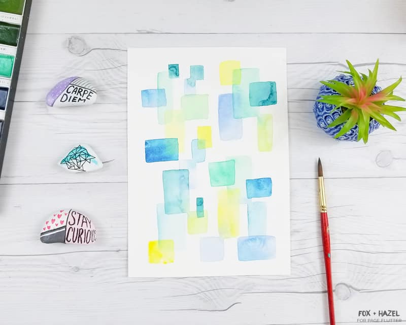 Easy Abstract Watercolor Painting For Beginners Page Flutter
