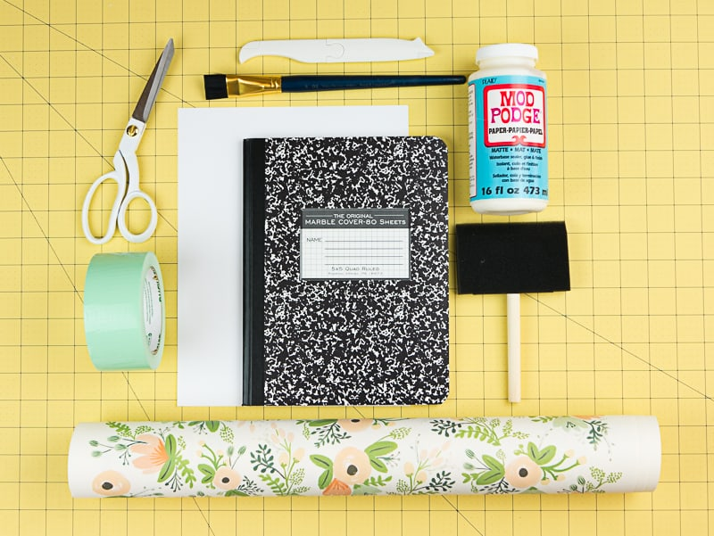 how to turn a composition notebook into a stylish diy journal page