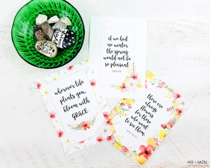 3 Free Spring Planner Art Printables - Fox + Hazel for Page Flutter 1