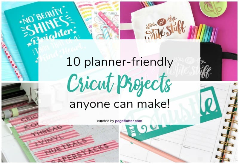 Planner-friendly Cricut projects. Silhouette and Cricut projects: bookmarks, stencils, stamps, and more for stationery lovers