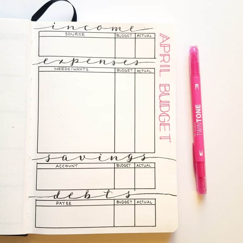 30+ Super Trackers For Your Planner:Daily, Monthly, Yearly| April budget tracker (2) | Jihi Elephant for pageflutter.com