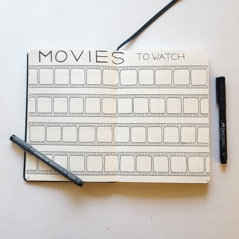 30+ Super Trackers For Your Planner:Daily, Monthly, Yearly| movie | Jihi Elephant for pageflutter.com