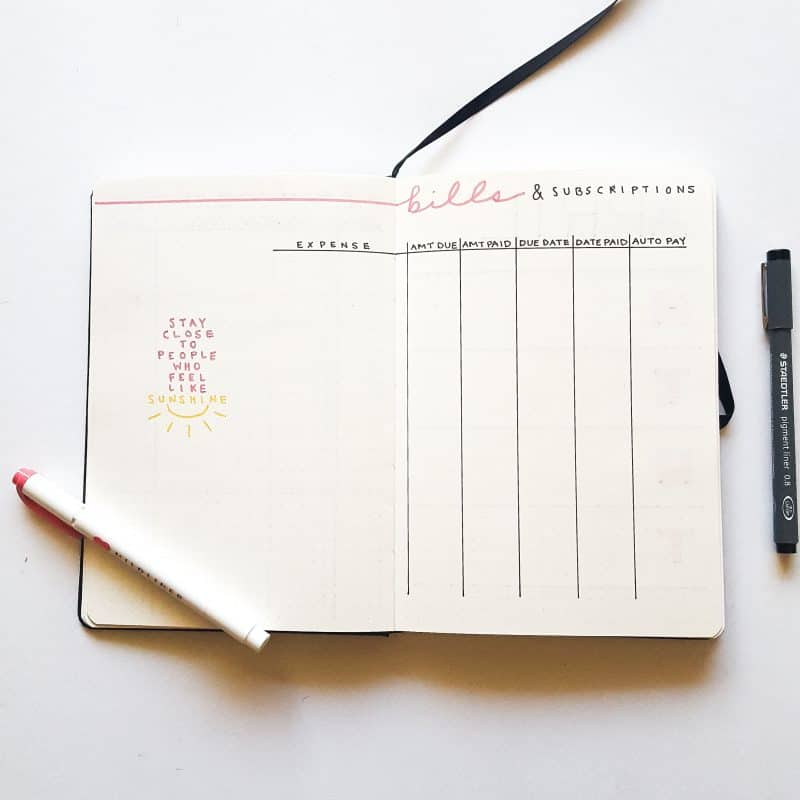 30+ Super Trackers For Your Planner:Daily, Monthly, Yearly| pink bill tracker | Jihi Elephant for pageflutter.com