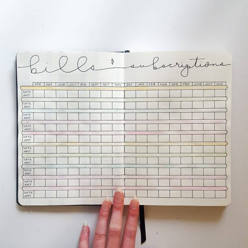 30+ Super Trackers For Your Planner:Daily, Monthly, Yearly| rainbow bill track | Jihi Elephant for pageflutter.com