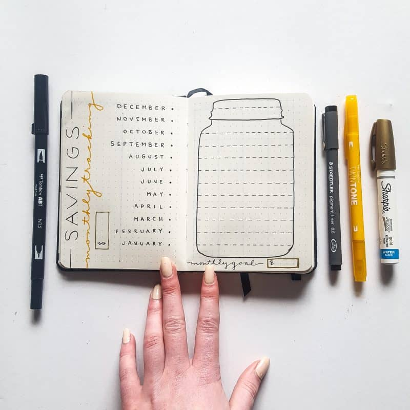 30+ Super Trackers For Your Planner:Daily, Monthly, Yearly|yellow money savings tracker| Jihi Elephant for pageflutter.com