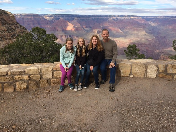 Family visit to the Grand Canyon, Nov'16