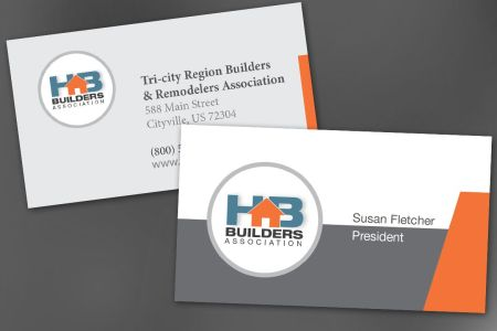Business Card template for Builders Association  Order Custom     Builders Association Business Card Design Layout