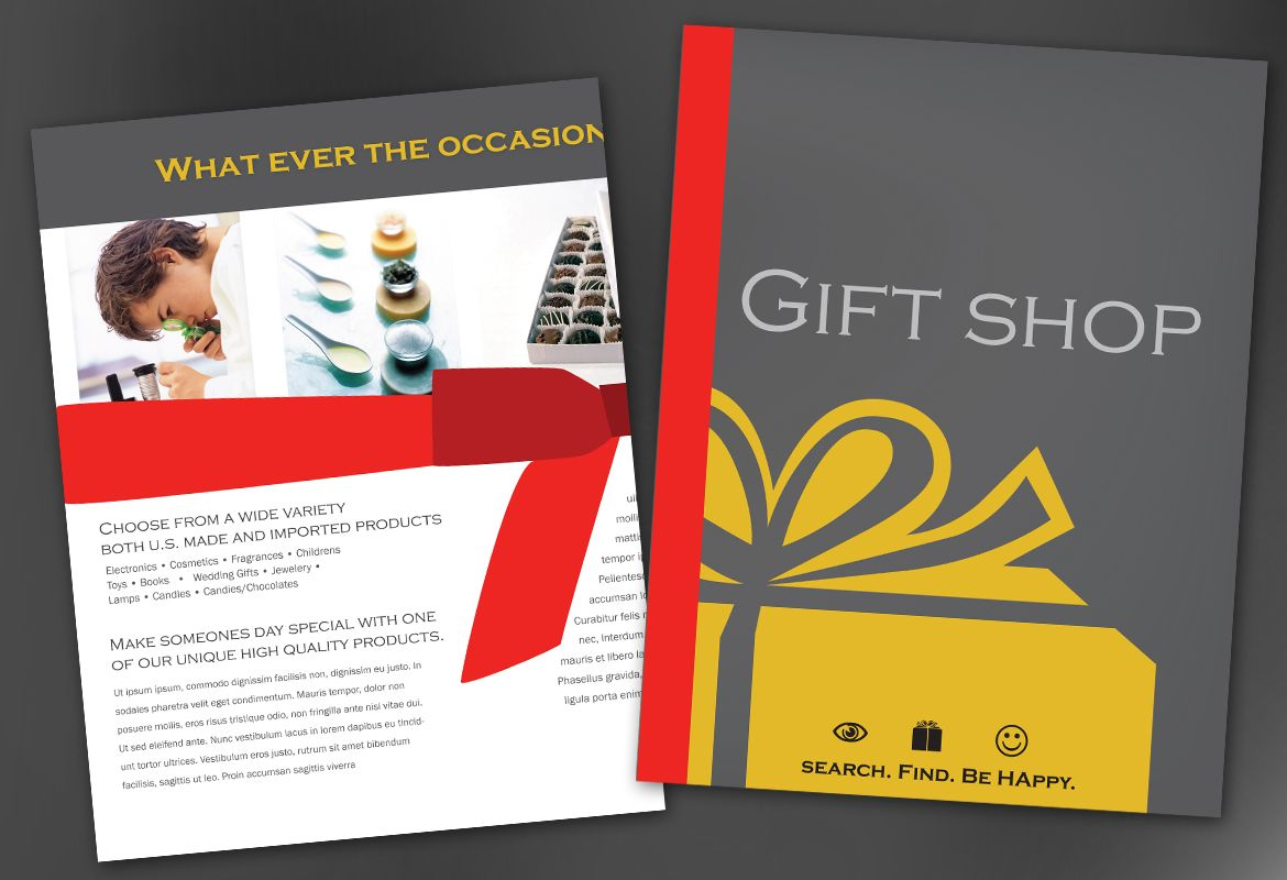Flyer Template For Gift Shop Retail Store Order Custom