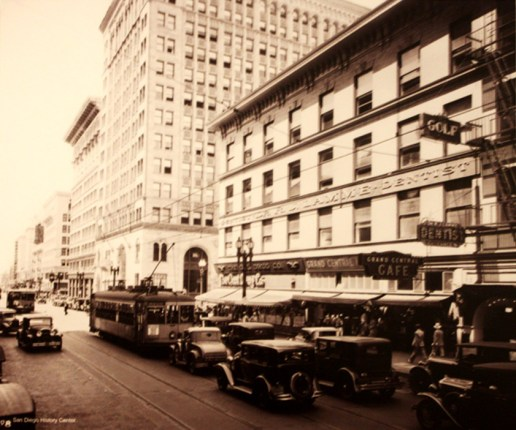 PageLadder Historic Photo Downtown San Diego Broadway Street