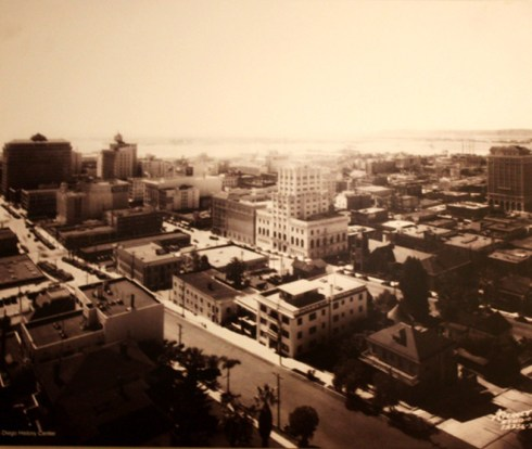 PageLadder Historic Photo Downtown San Diego Ariel View