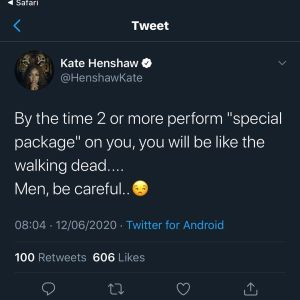 """Video of lady marketing a love charm called """"Special Package"""" going viral on social media"""